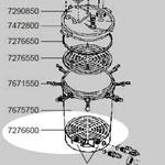 7276600 下部ろ材固定盤