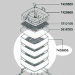 7428658 ろ材コンテナ(2076-3個/2078-4個)